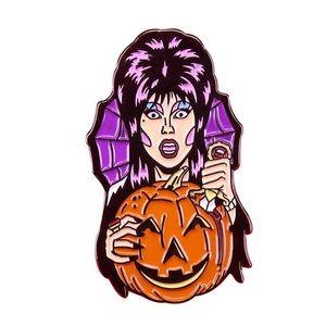 Elvira Halloween Pumpkin Pin 🕸